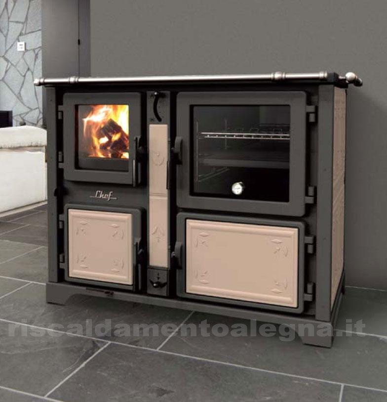 Cucina a legna chef f fiori thermorossi - Cucine a pellet prezzi ...